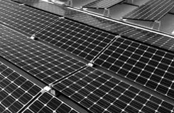 solar panels on a buildings roof
