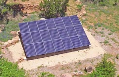 Custom ground mounted solar panels installed by HESOLAR in Austin TX