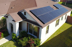 residential solar on a composition shingle roof