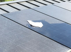 rag cleaning dust and dirt on solar panels