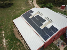 Panasonic Solar Panels on a Barn in Dripping Springs TX