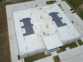 Commercial solar installation in Buda TX