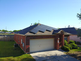 Solar Panels on a residential roof in Kyle TX