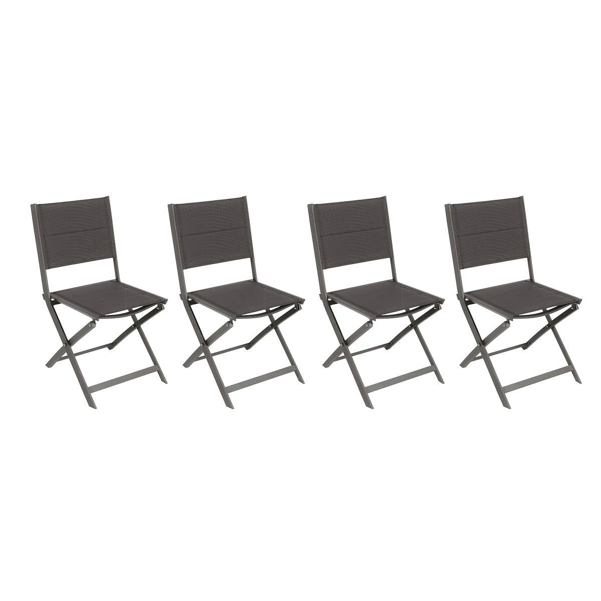 lot de 4 chaises de jardin pliantes allure speculoos praline hesperide com