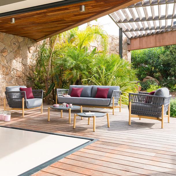 Salon de Jardin Rsine Tresse Design  Hespride