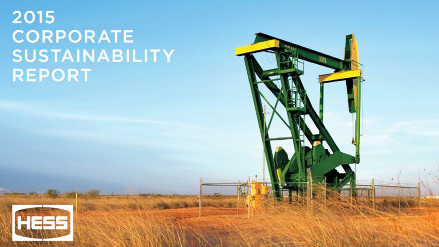 Hess Corporations 2015 Sustainability Report Shows