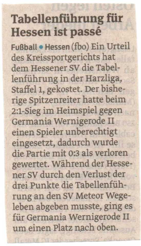 Volksstimme Halberstadt 18.02.15