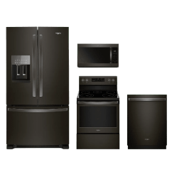 Kitchen Appliance Packages Stainless Steel Counter Whirlpool 4 Piece Package Fingerprint Resistant Black Whkitwfe525s0hv Mt Pleasant Omaha Tx Appliances Electronics Furniture