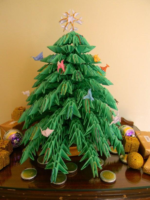Origami Xmas tree