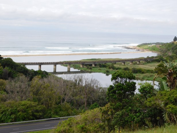 View of Mtwalume River and Elysium Beach from the hilltop