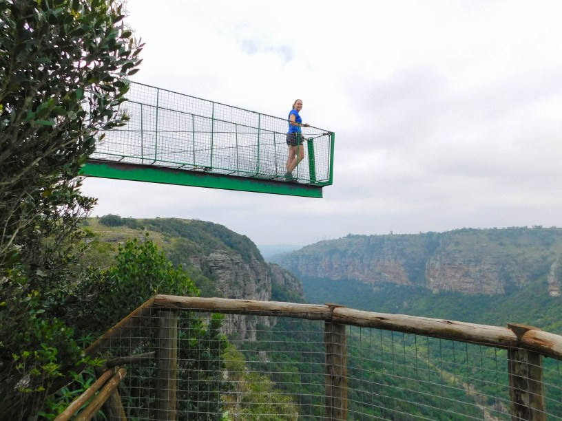 Lookout point over the Oribi Gorge at the suspension bridge - Lake Eland Nature Reserve