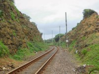 Railway cutting on the Ifafa side