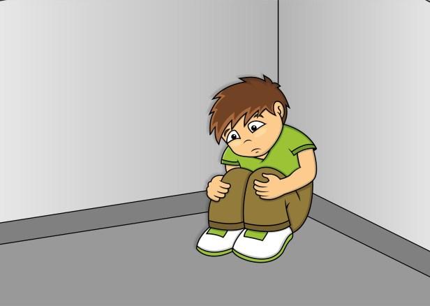 Sitting in a corner