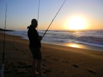 Sandspit, Port Shepstone, Kwazulu-Natal at sunrise