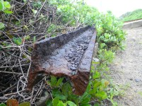 A discarded railway track