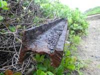 A discarded railway track