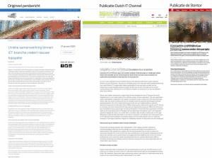 Origineel persbericht en de bedroevende publicaties die erop volgen