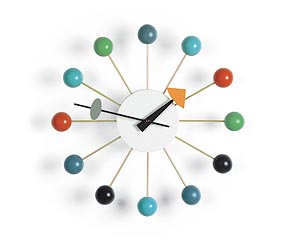 Vitra Ball Clock wandklok design George Nelson