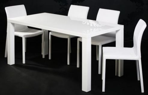 Hoogglans witte design tafel Glossy