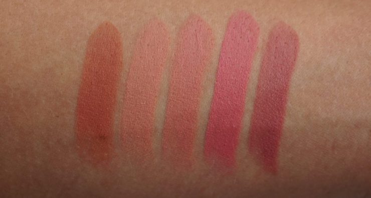 FREEDOM Naked Mattes Collection lipsticks swatches