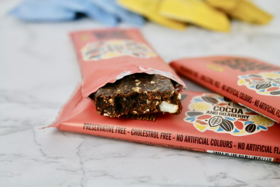 vegan bars action cocoa and gojiberry