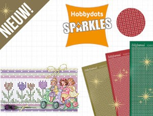 Hobbydots sparkles stickers en patroonpapier