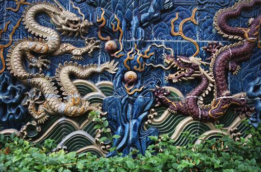 twee Chinese draken
