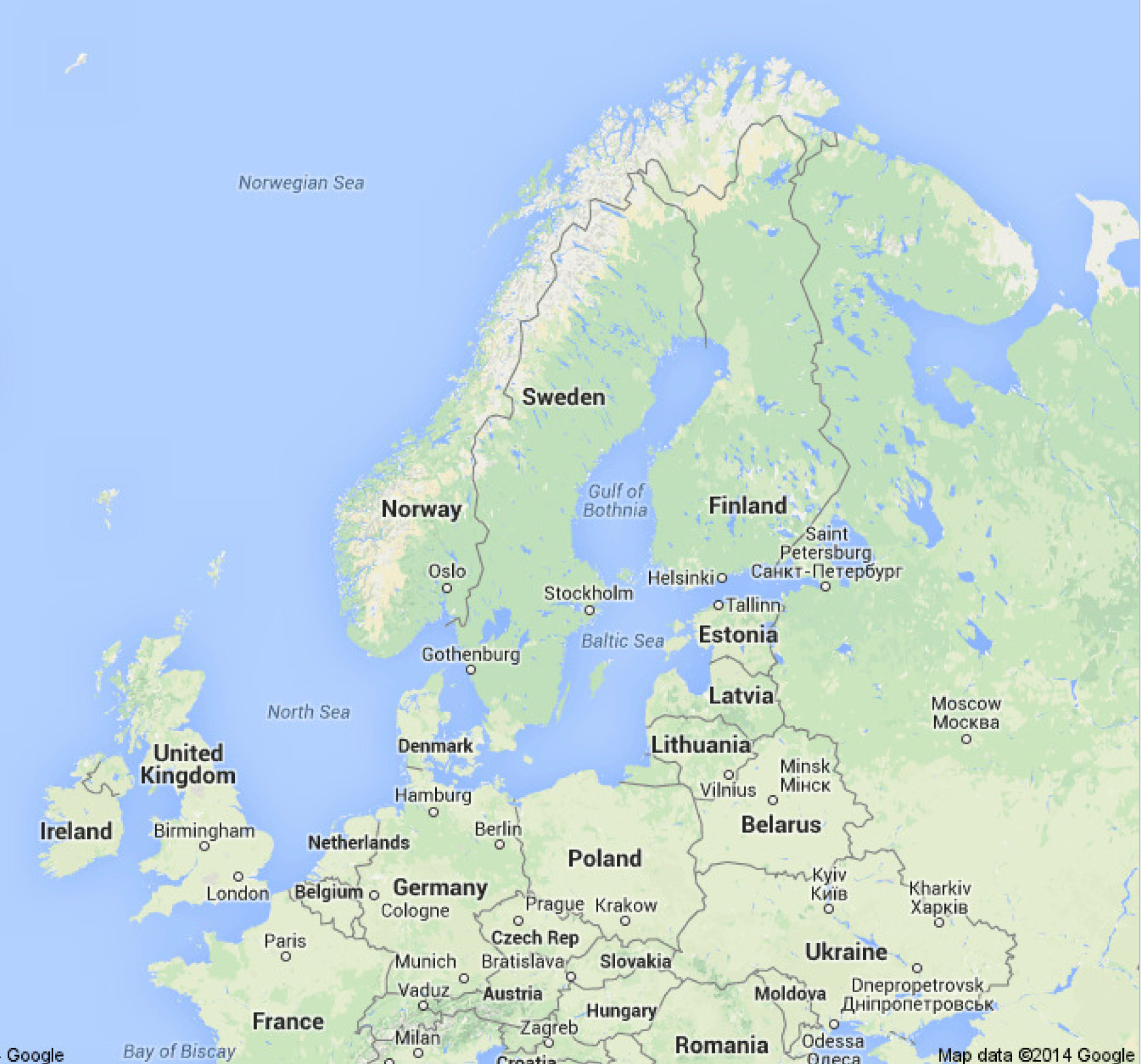 Sweden Map Afp Cv