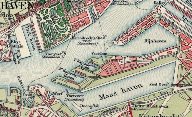 kaart katendrecht ca 1910