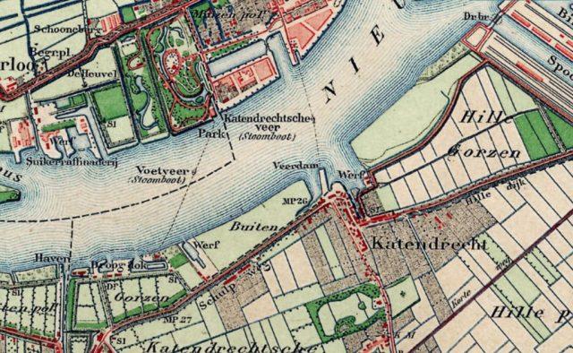 kaart Katendrecht ca 1880