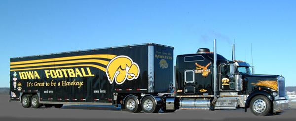 Hawkeyes Truck Painted by Jim Hetzler