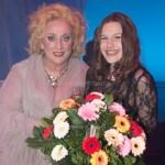 ZAANDAM, THE NETHERLANDS. FEBRUARY 14, 2017. Karin Bloemen en Lidewei Loot op de foto bij de premiere van Volle Bloei met Karin Bloemen in het Zaantheater.