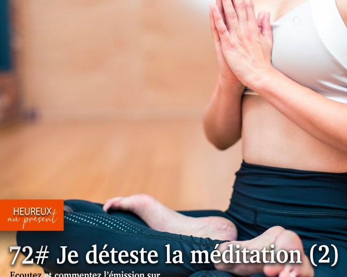 """Pouvez-vous dire """"je déteste la méditation?"""""""