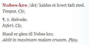 Moths Ordbogs definition af Nobes-Kro
