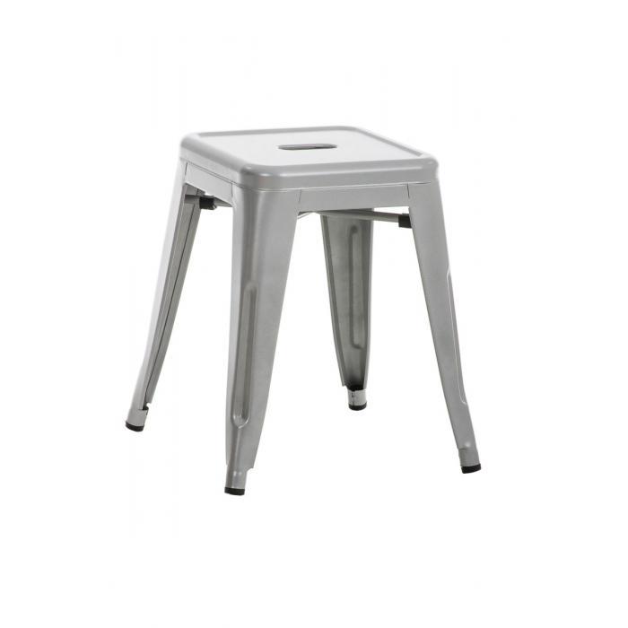 Sitzhocker CP580 Hocker Arbeitshocker Metall 46x40x40cm  silber