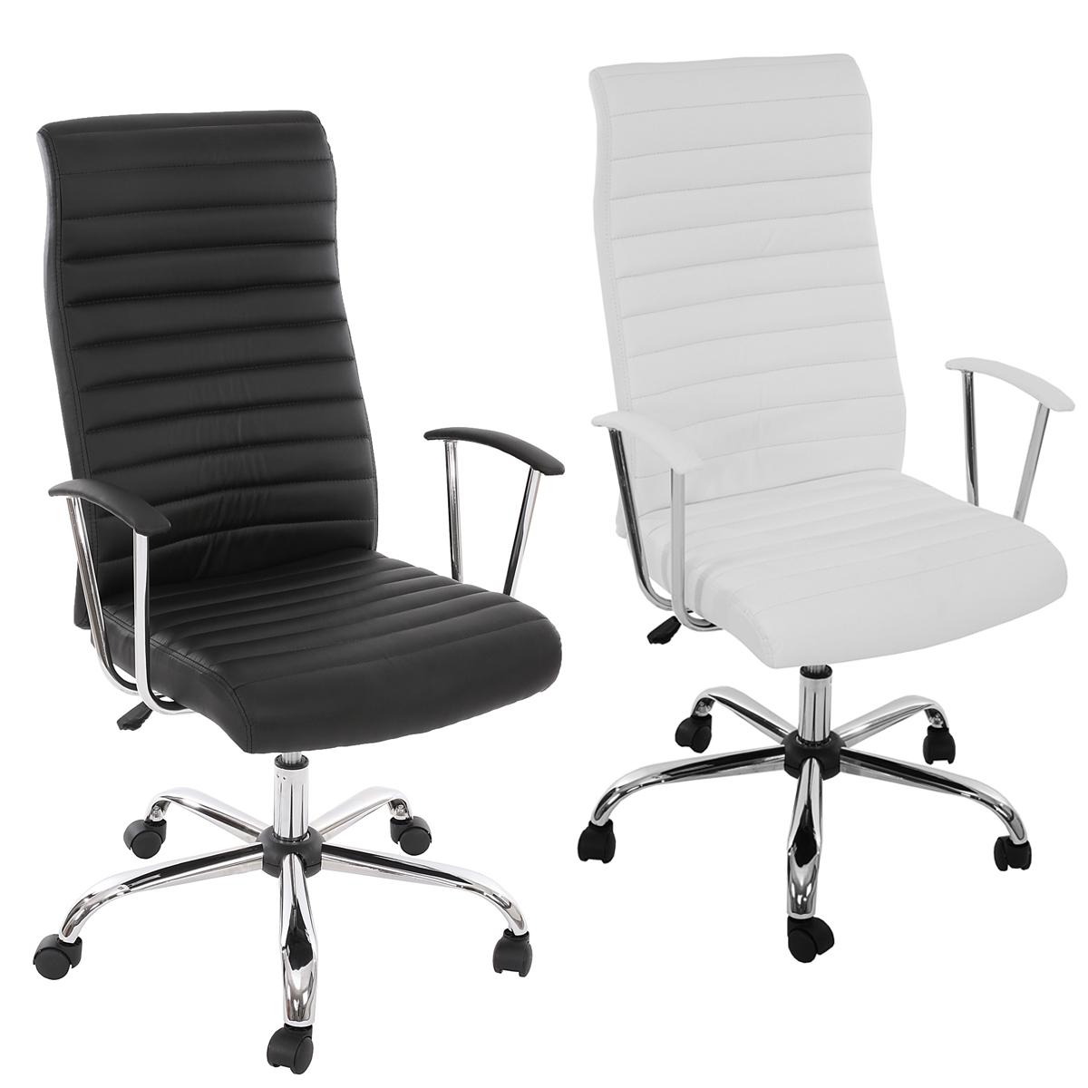 details sur fauteuil chaise de bureau cagliari ergonomique simili cuir noir blanc