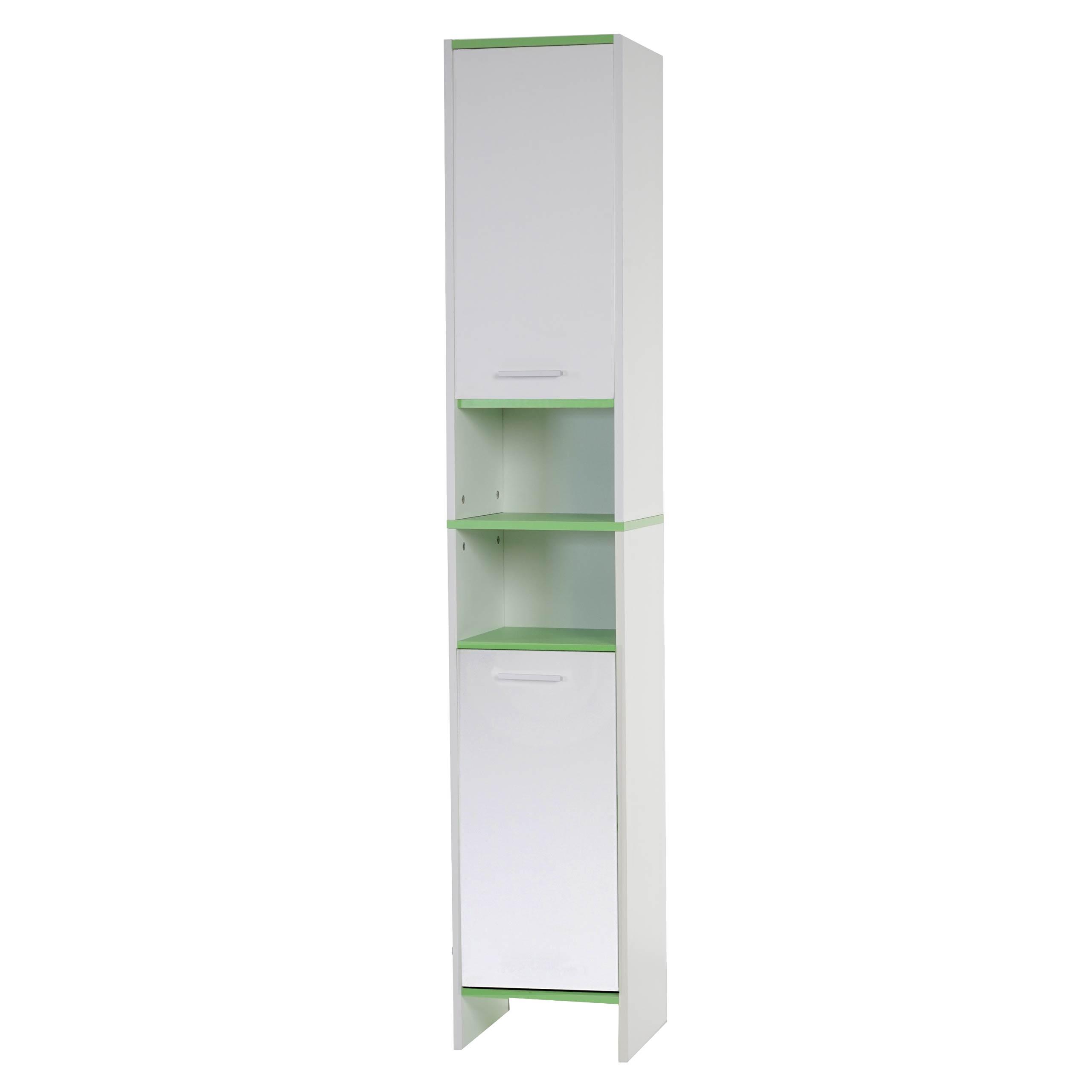 Arredo bagno serie Arezzo mobile alto 179x315x28cm legno  biancoverde D  eBay