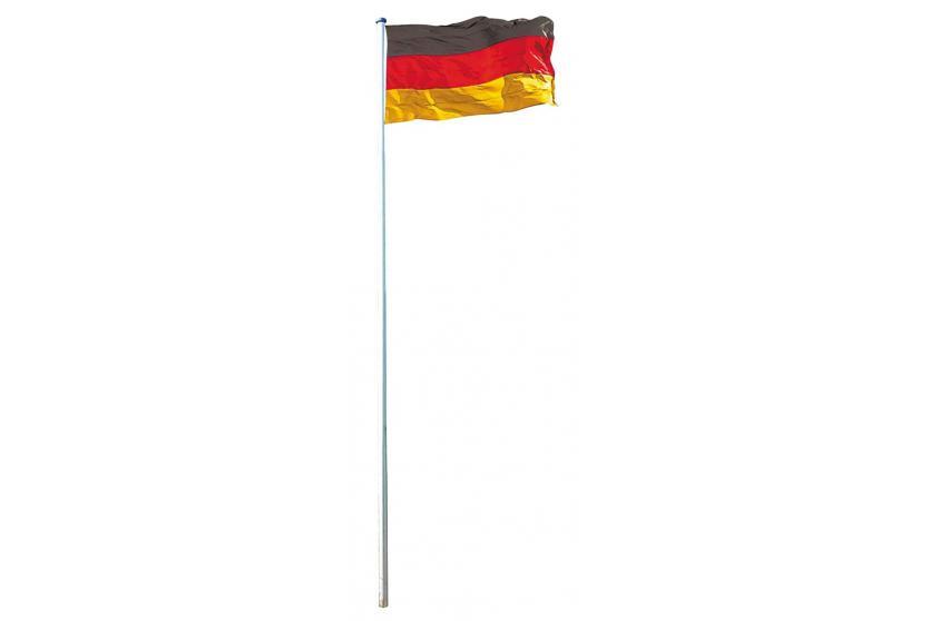 Fahnenmast inkl Deutschlandflagge Fahnenstange Mast