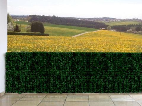 sichtschutz fuer zaun sichtschutz windschutz verkleidung für balkon terrasse zaun ~ blatt dunkel   x  cm