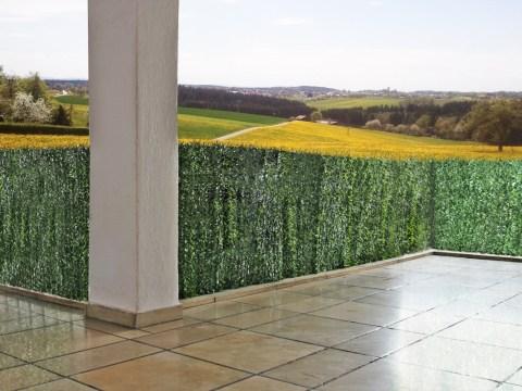 sichtschutz fuer zaun sichtschutz windschutz verkleidung für balkon terrasse zaun ~ tanne breit   x  cm