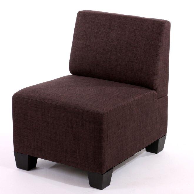 Modular Sessel Ohne Armlehnen Mittelteil Lyon Textil Braun
