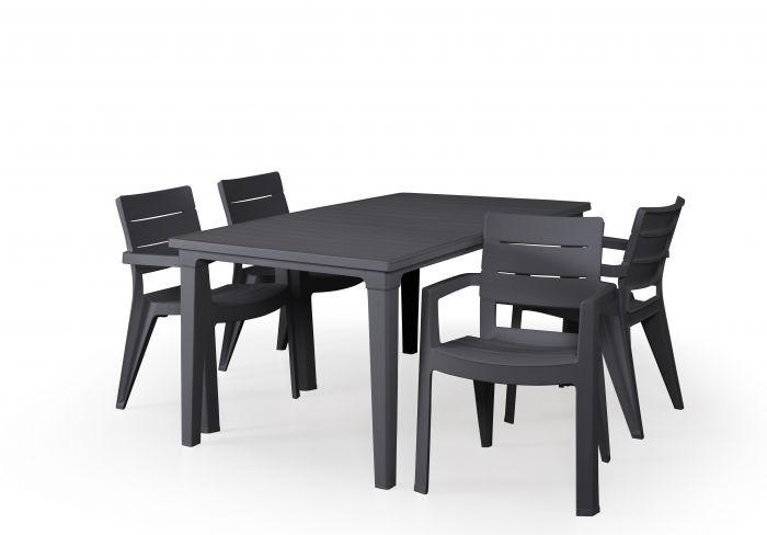 table de jardin futura d allibert anthracite