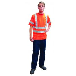 Fluo tshirt korte mouw oranje L  Goedkope  degelijke