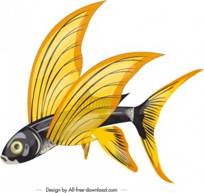 flying_fish_icon_colored_3d_sketch_6839168