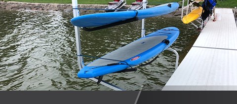 paddle board rack for your dock hewitt