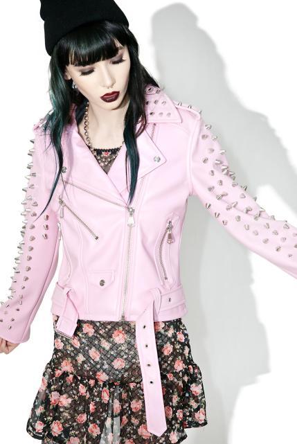 Killstar Dahlia Studded Biker Jacket