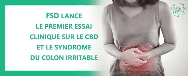 FSD lance le premier essai clinique sur le CBD et le syndrome du colon irritable