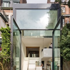 Kitchen Island Casters Lighting Over Renovated House Flaunts World's Largest Pivoting Window