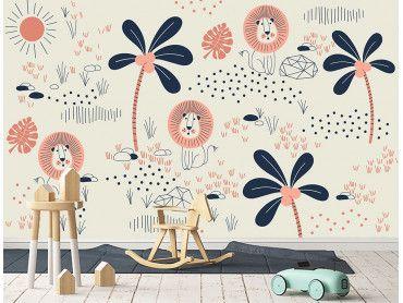 papier peint panoramique animaux pour