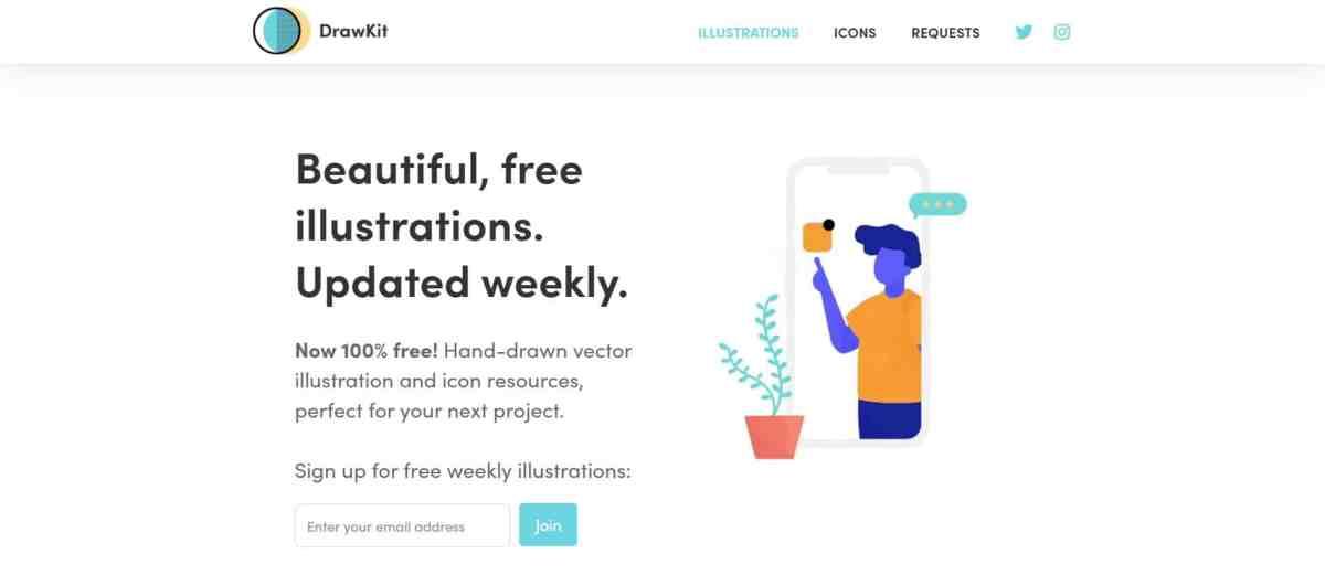 DrawKit: Beautiful free vector illustrations
